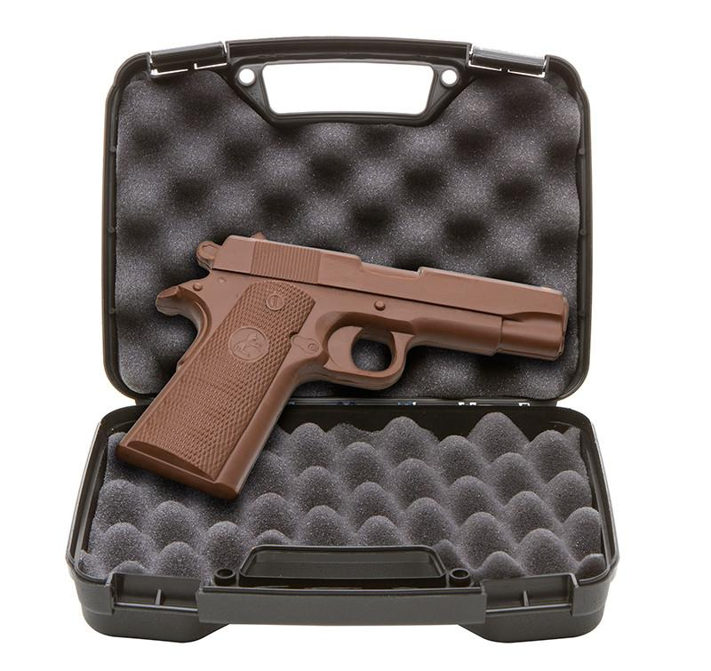 chocolate pistol in case