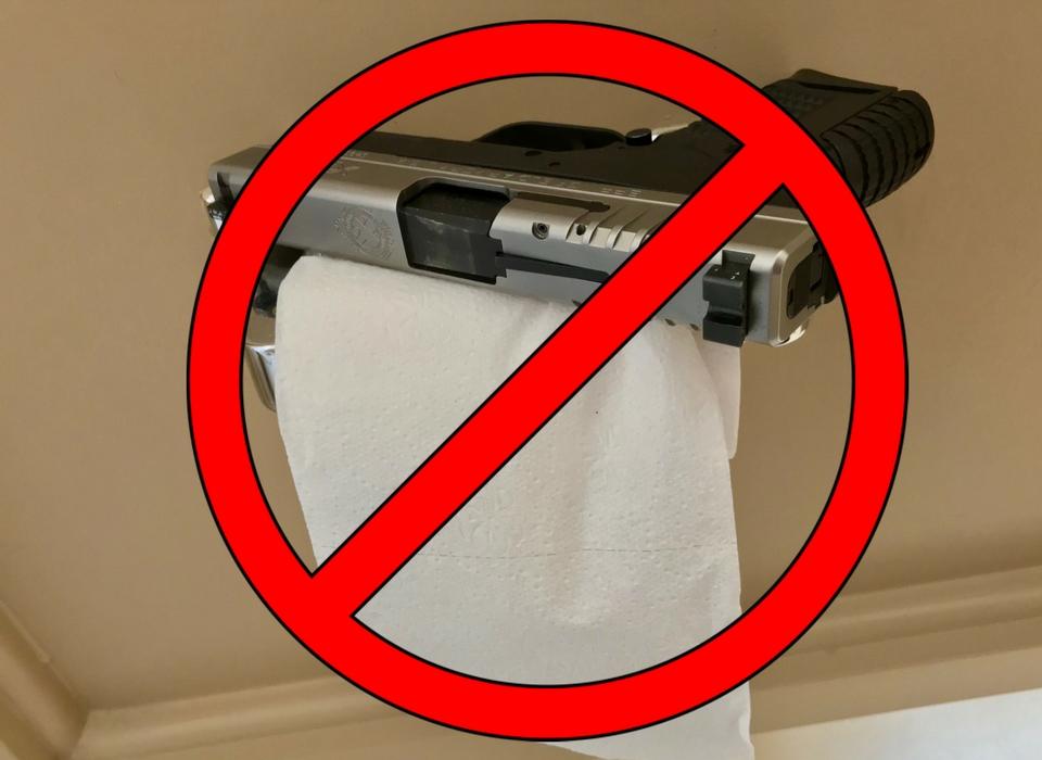 Gun on Toilet Paper