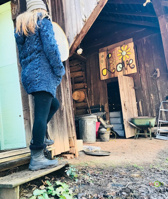 Jessica on the farm Arctic Apres Lace