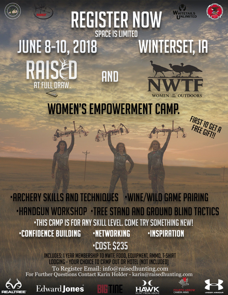 Empowerment Camp Raised At Full Draw and NWTF Women's Empowerment Camp