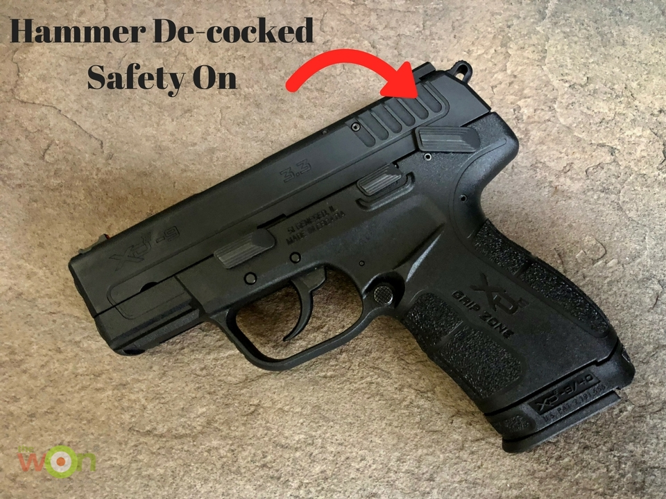 Hammer De-cocked safety on