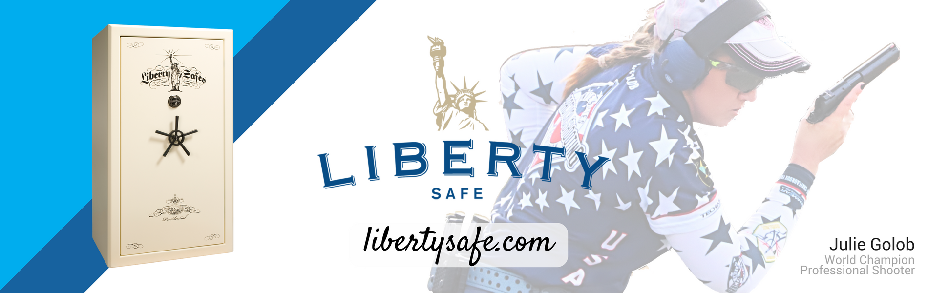 Juile Golob World Champion Professional Shooter Endorses Liberty Safe safes. Liberty Safes number 1 in quality home or gun safes with the industry best lifetime warranty & customer support.