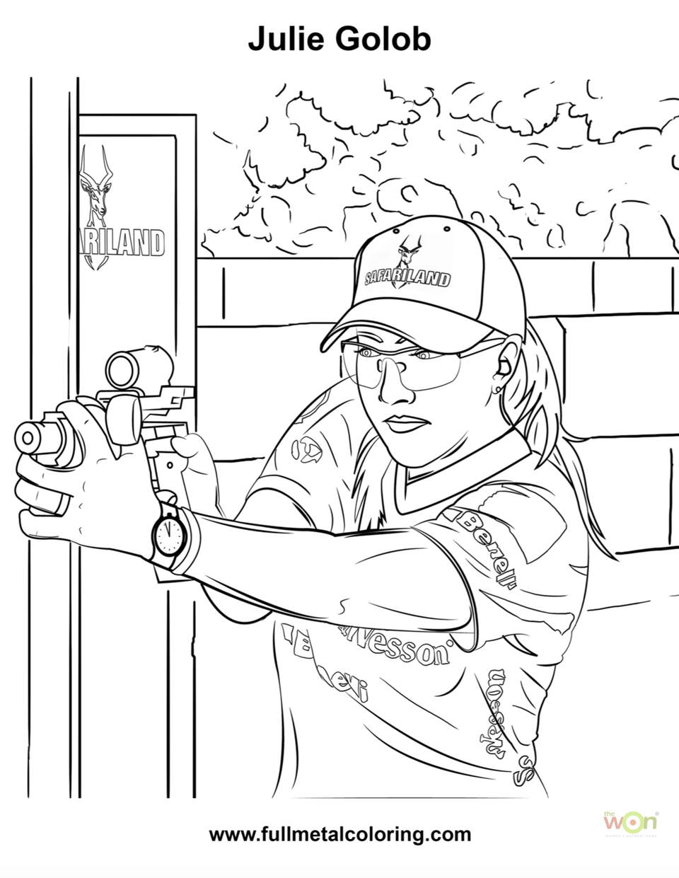 Julie Golob coloring page