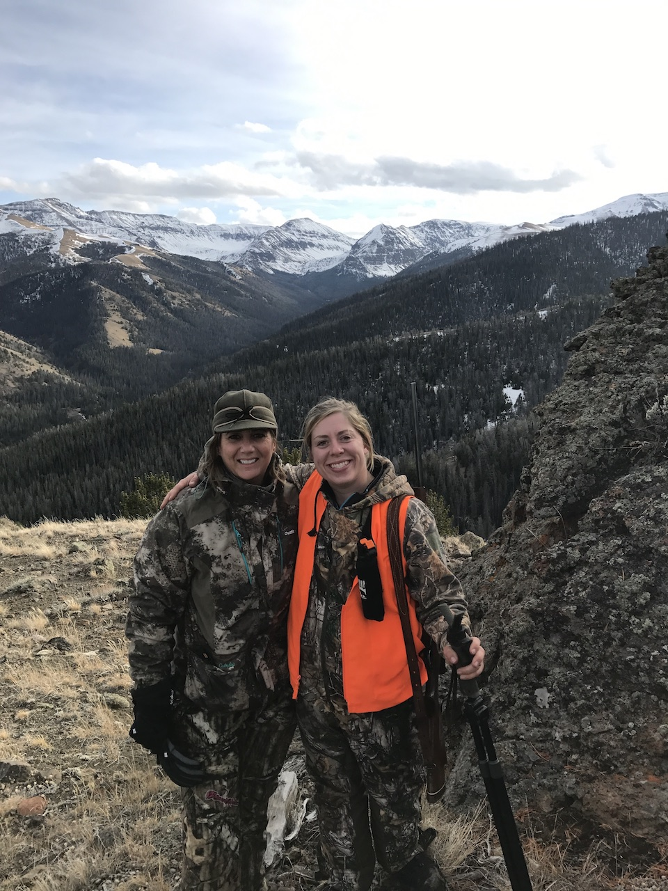 Amy Ray and Emily Reinert in the Washakie Wilderness of Wyoming women hunter Sisterhood of the Outdoor