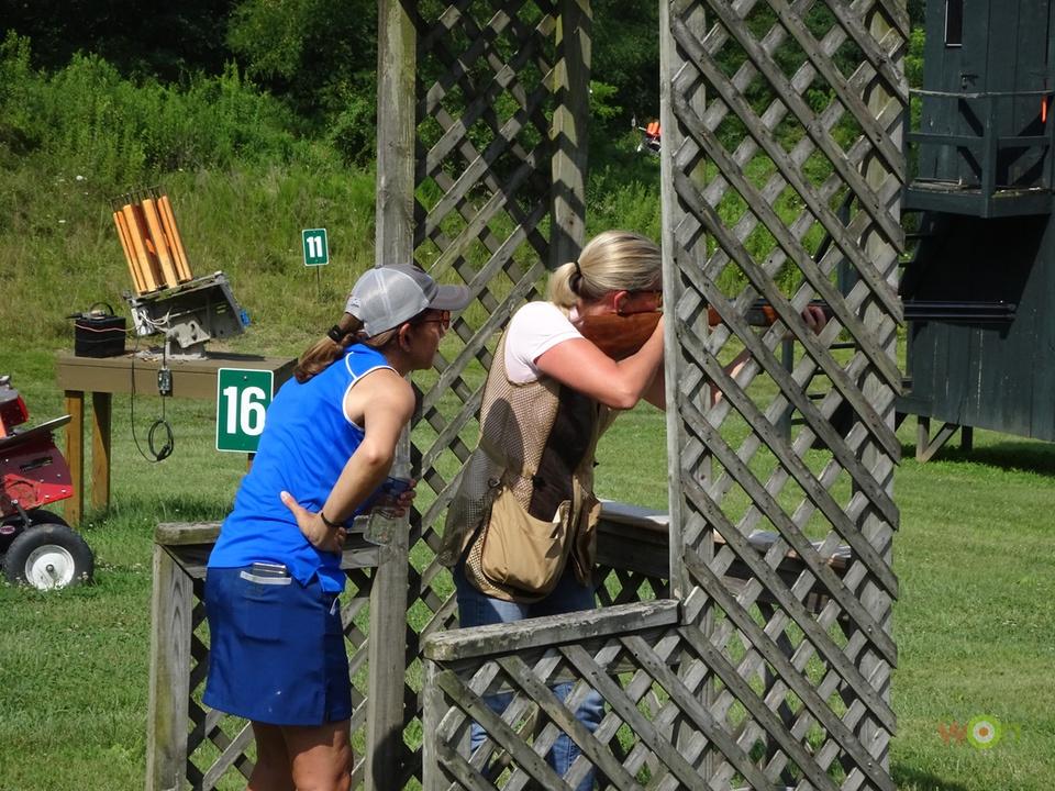 Andrea teaching shotgun