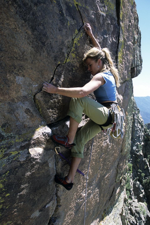 Chicks climbing & Skiing Basic Rock Climbing Training