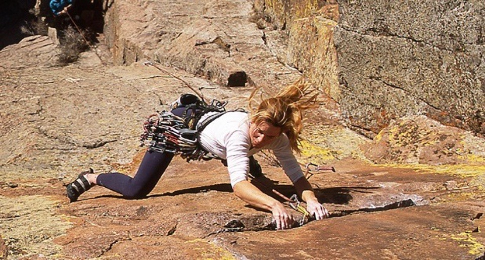 chicks climbing and skiing Rock Climbing Basic Rock Climbing Training Program