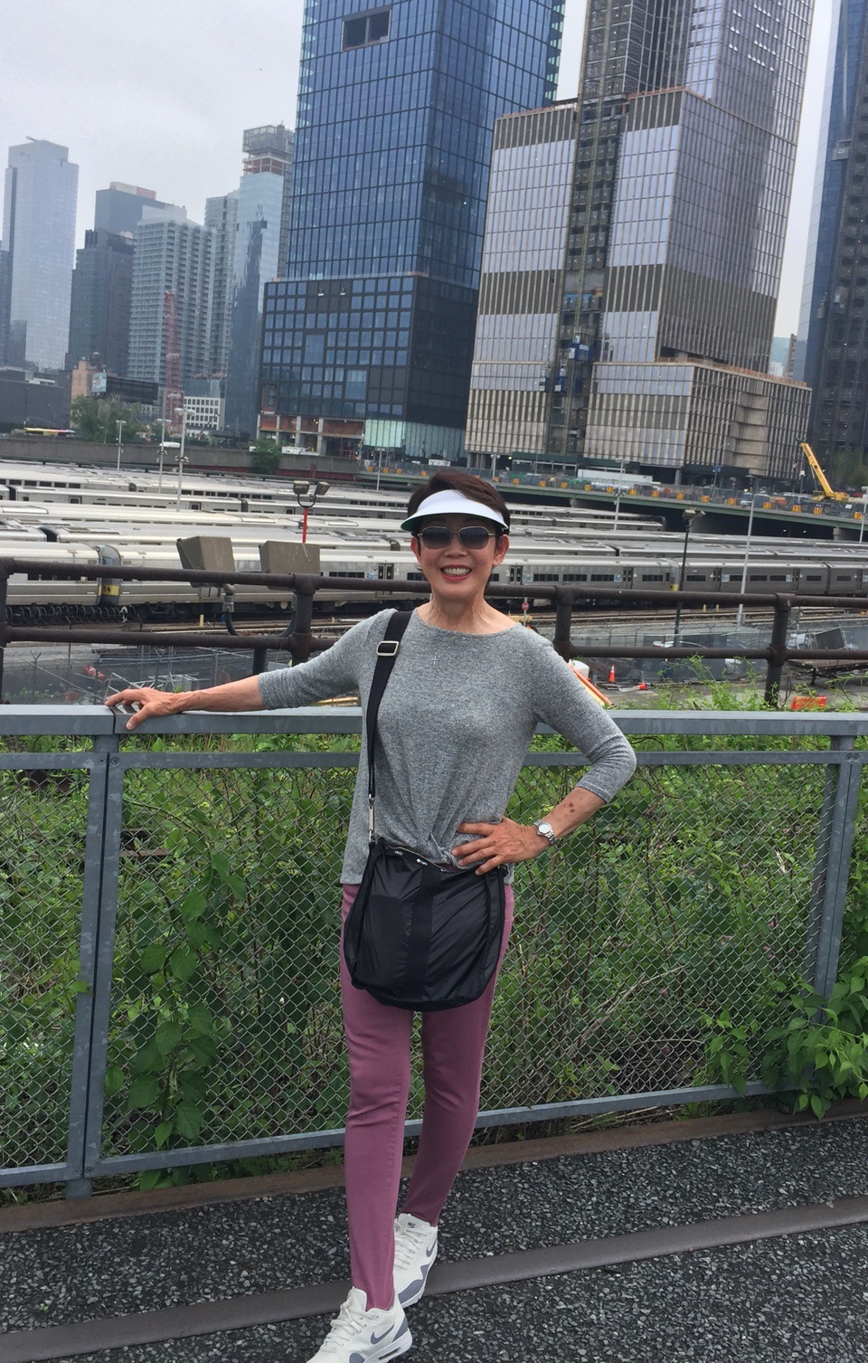 High Line Park Walk at NYC 2018 Vera Koo