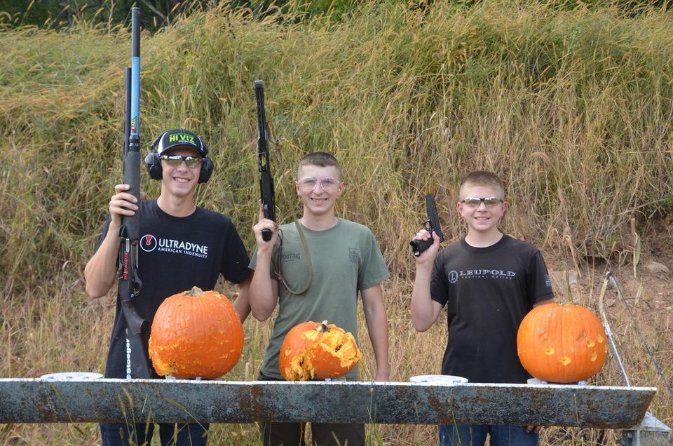 Yackley pumpkin shooting Firearms Safety