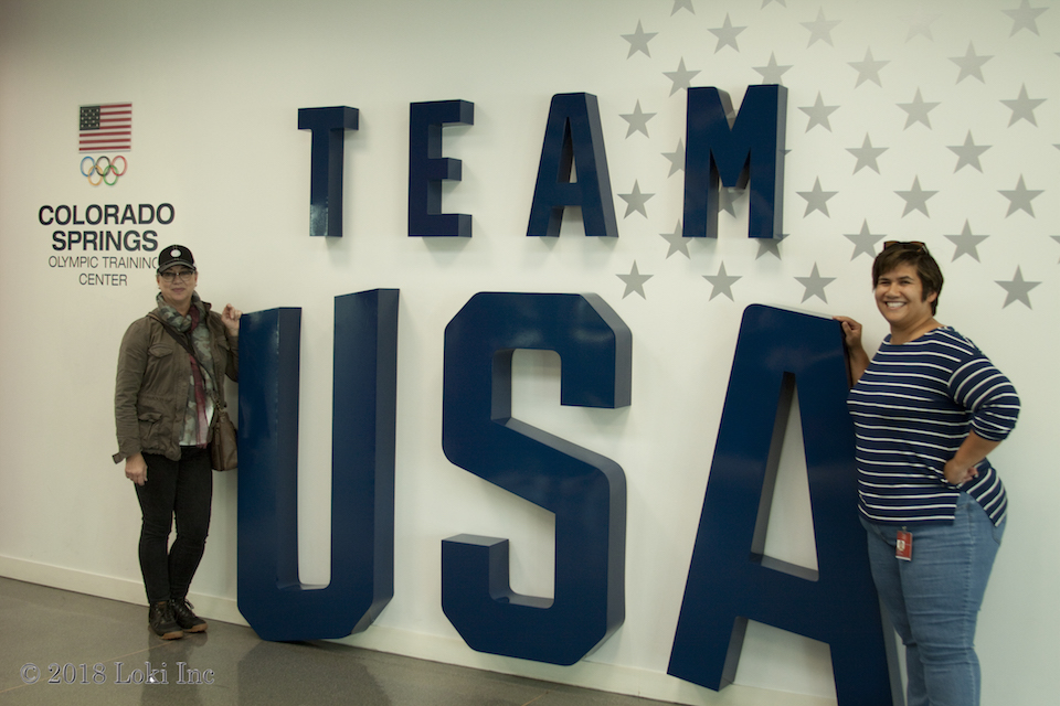 Babbs and Jessica Delo Reyes at USA Olympic Training Ctr