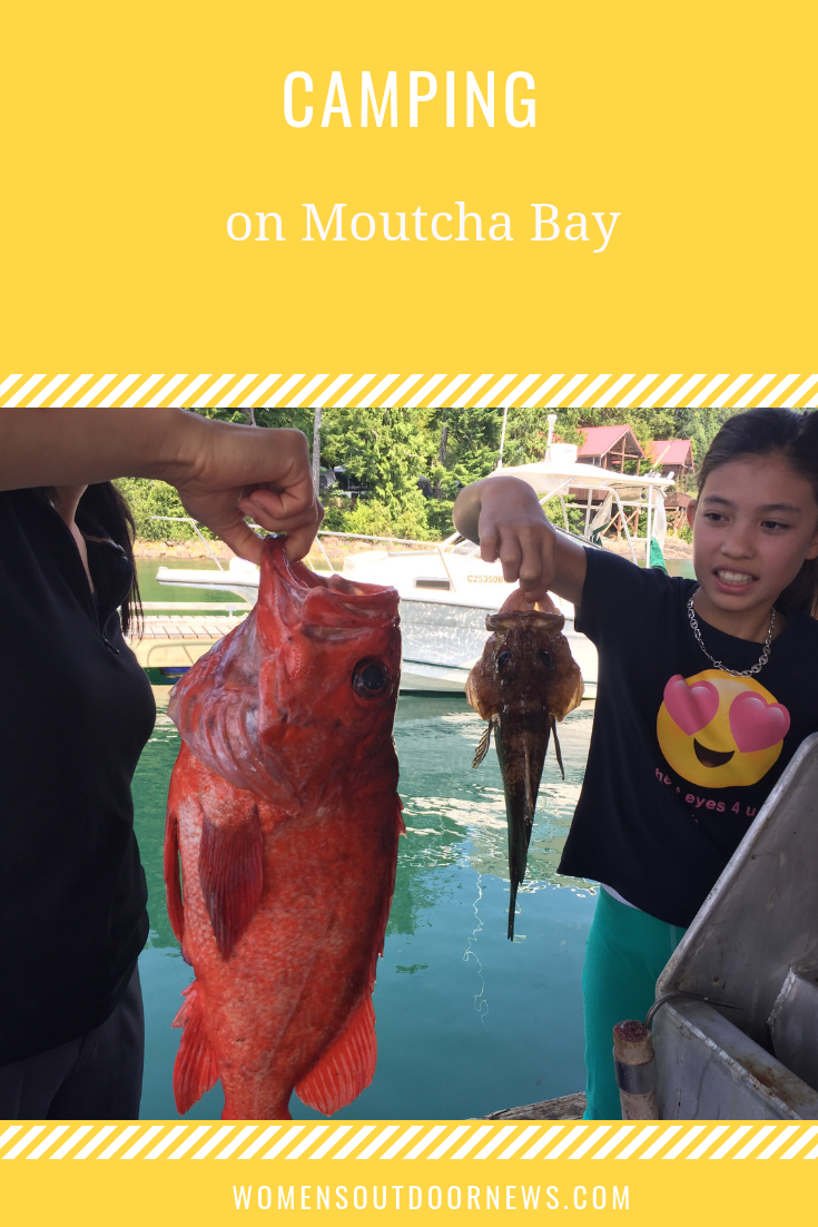Find out what happened when Vera Koo and her entire family of 12 went on a camping trip to Moutcha Bay in British Columbia. | #womensoutdoornews #camping #moutchabay #Fishing #familyfishing #fishingtrip #yurt #outdoorwomen