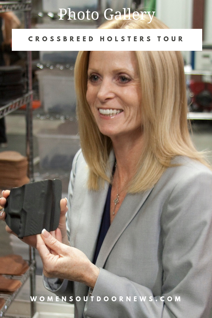 See behind the scenes and visit CrossBreed Holster's factory when Babbs takes us along in her photo feature. | #womensoutdoornews #holsters #factorytour #concealedcarry #crossbreedholsters #2amendment #womancarry