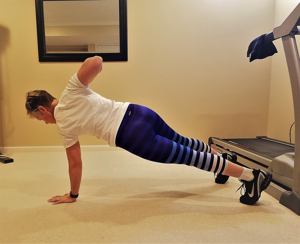 Plank Row upper body strength