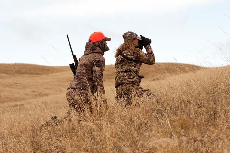 women with binoculars WWAH Wyoming Women's Antelope Hunt Scholarship Application