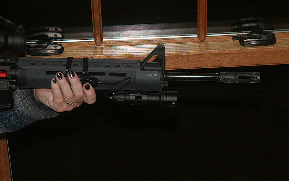 Crimson Trace Tactical Light on Smith & Wesson AR15