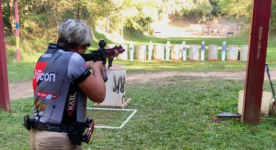 Michelle Cerino competing