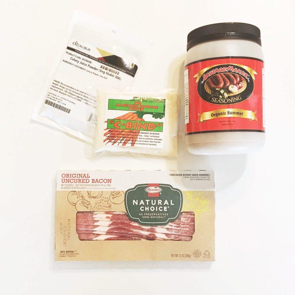 Summer Sausage ingredients
