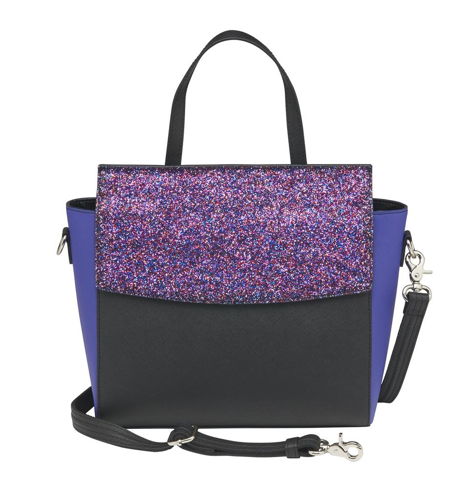 GTM purple glitter tote