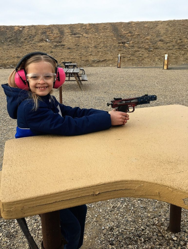 Addison loves shooting the Scorpion!
