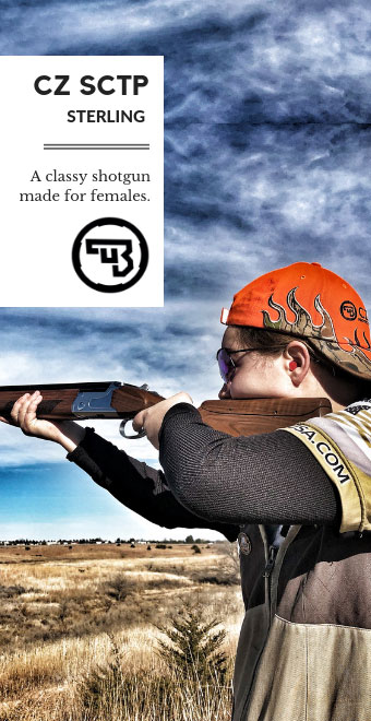 CZ SCTP Shotguns made for females Landing Page