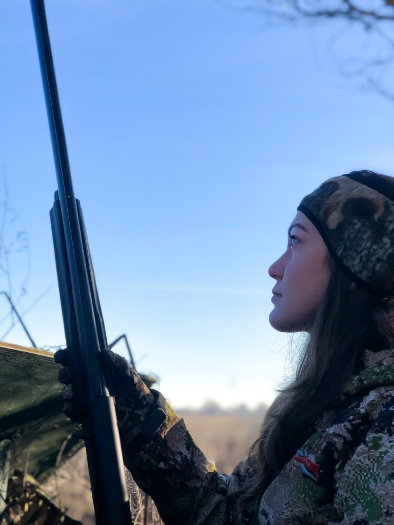 Emily Perreira Duck hunting Versa MAX