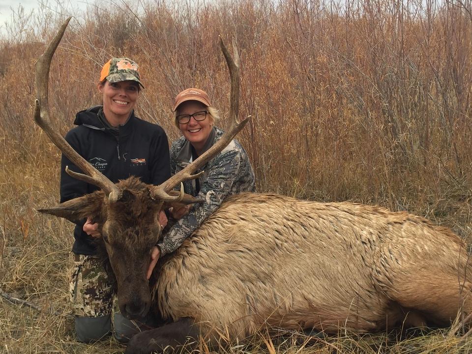 Donna McDonald and Karen Butler Montana elk