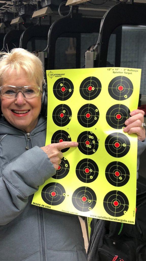 Nancy Friedman target practice nov 2018