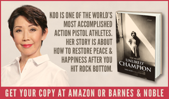 Vera Koo The Most Unlikely Champion is the story of a petite Chinese-American woman, wife, mother and grandmother and her run to the top as a world title holder in the sport of Action Pistol Shooting.