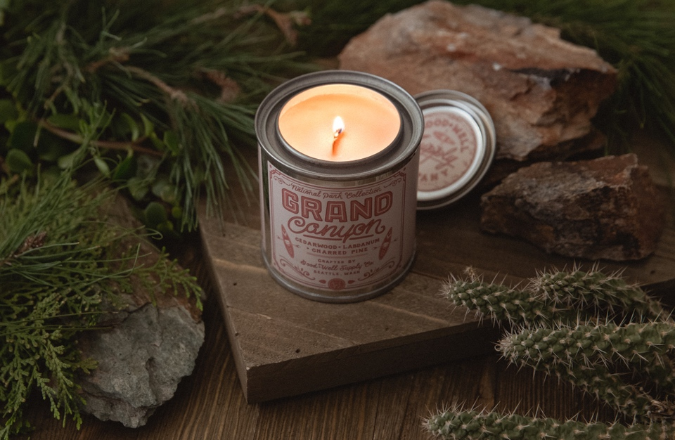 outdoors inspired candles trail scents
