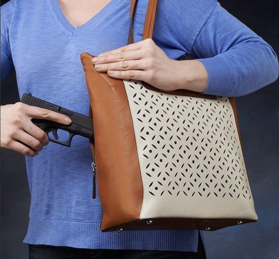 GTM-66 American Cowhide Vertical Shopper CCW handbag