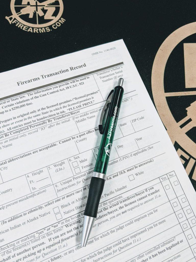 firearms transfer paperwork Federal Form 4473