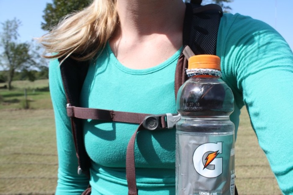 Attach a Water Bottle to Your Backpack Strap