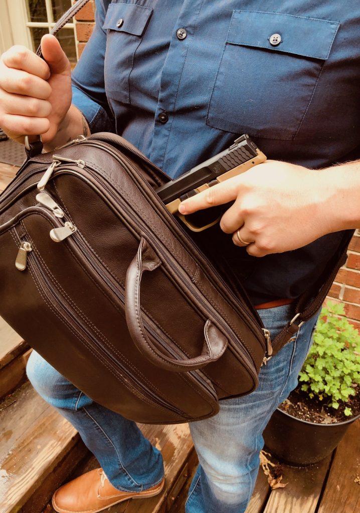 GTM-155 draw  Gun Tote'n Mamas briefcase