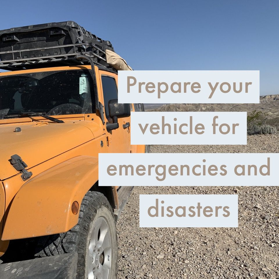prepare your car for emergencies Rogue Preparedness