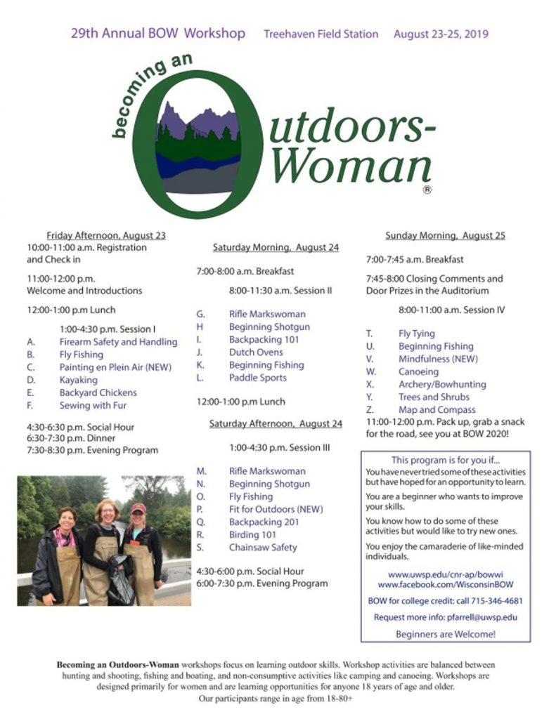 "The 29th ""Original"" BOW Workshop Becoming an Outdoors Woman"