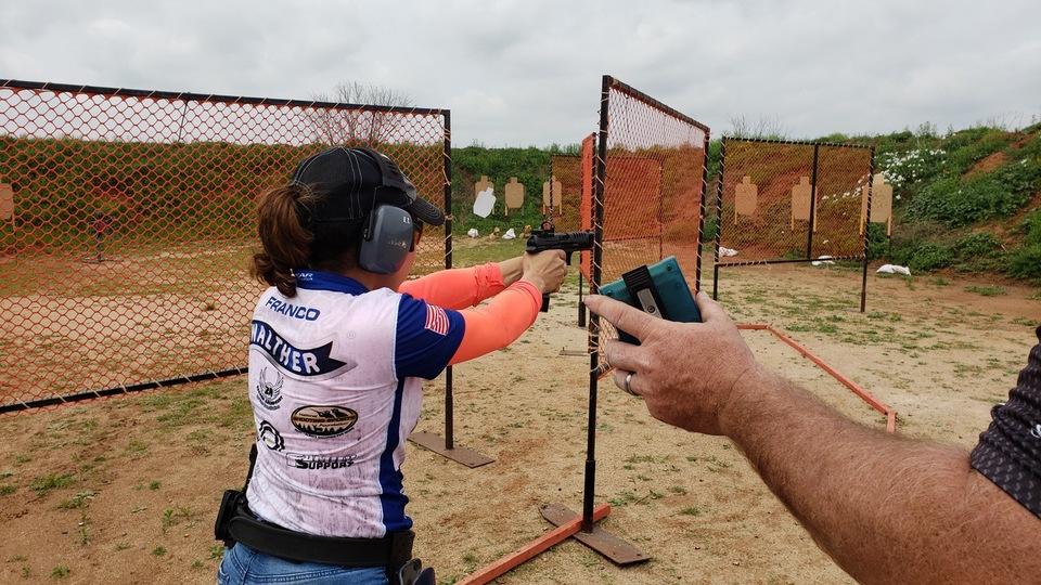 Gabby Franco Shooting Walther Pistol Shooting with Optics