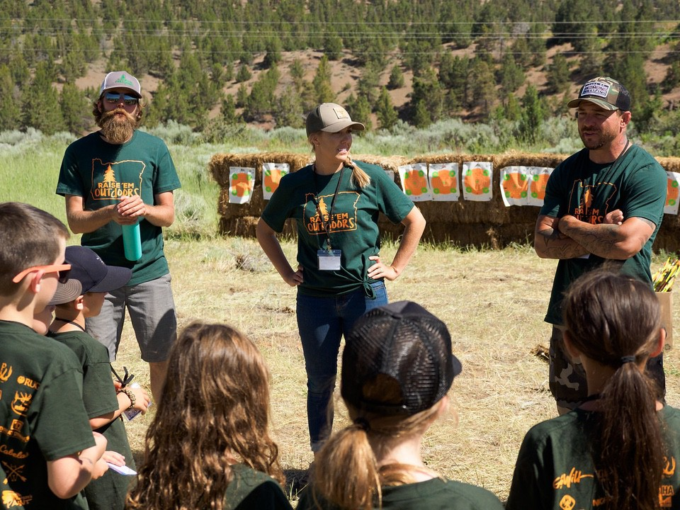 Raise 'Em Outdoors Camp Volunteers Erin Crooks active outdoor lifestyle