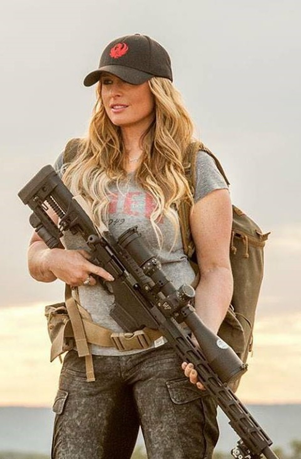 Kristy Titus with Ruger Precision Rifle