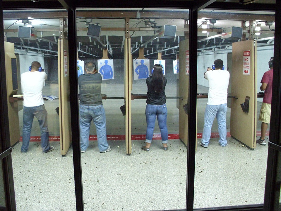 indoor Shooting range +ONEMovement National Shooting Sports Month