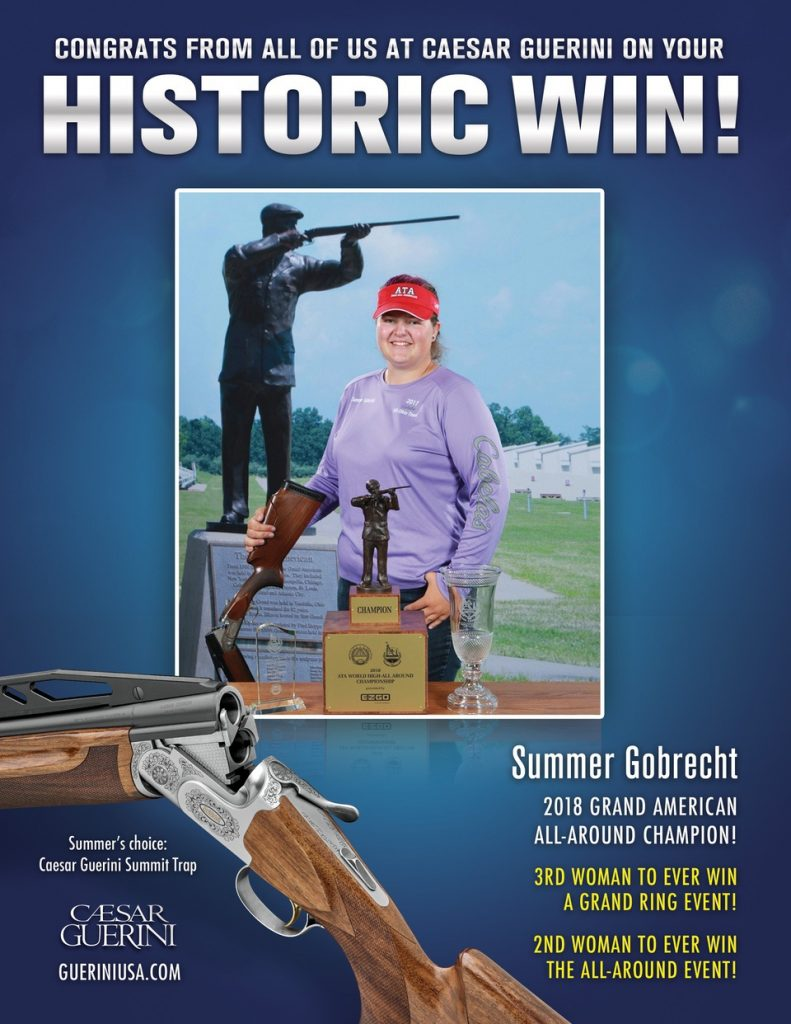 Competition shooter Summer Gobrecht with her Caesar Guerini