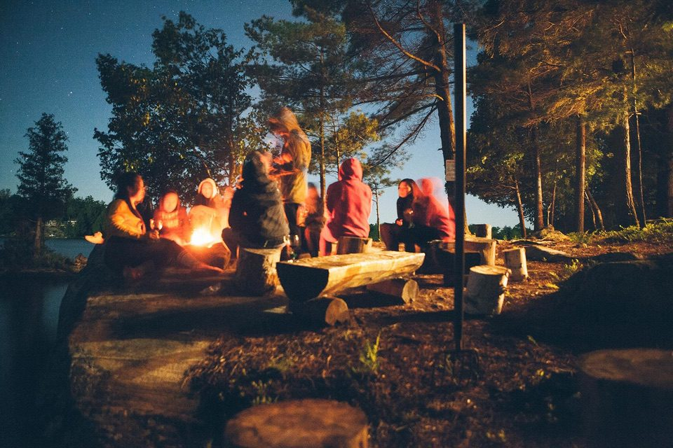 adult camping activities  Campfire Cooking