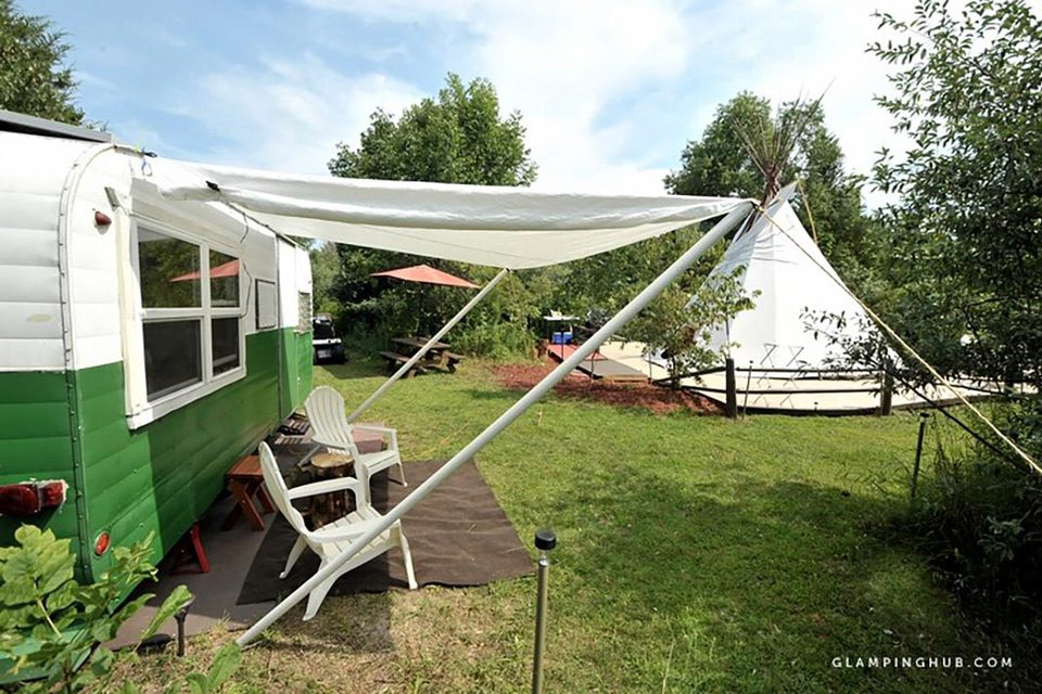 Glamping Getaways in Michigan vintage camper