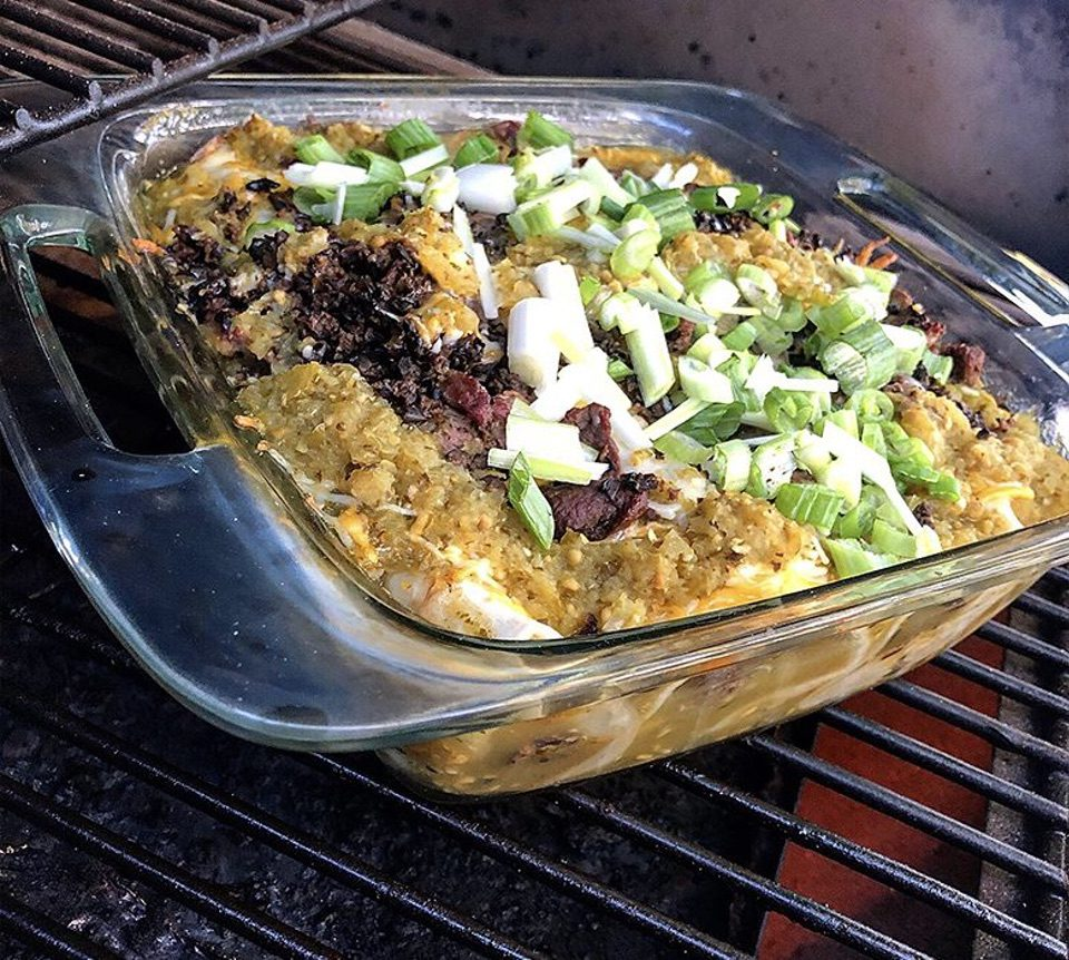 Venison Enchiladas with Green Tomato Enchilada Sauce