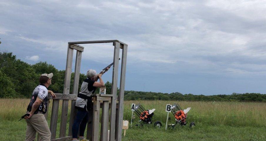 Cerino shooting CZ-USA shotgun