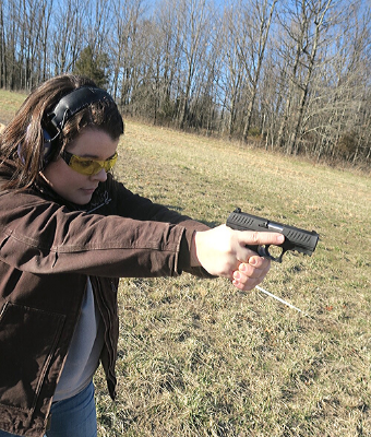 Hannah Kelly walther ccp m2 on range