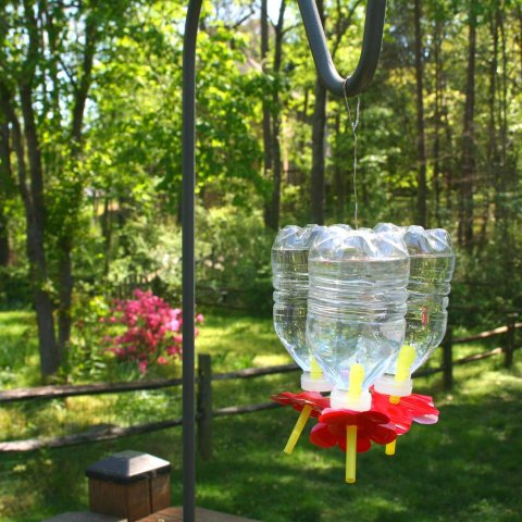 Make Your Own Recycled Bottle Hummingbird Feeder