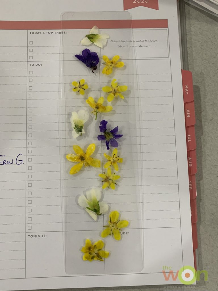 wild flowers buttercups orchids bookmark