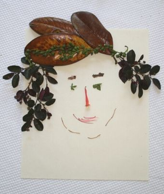 foliage art face feature