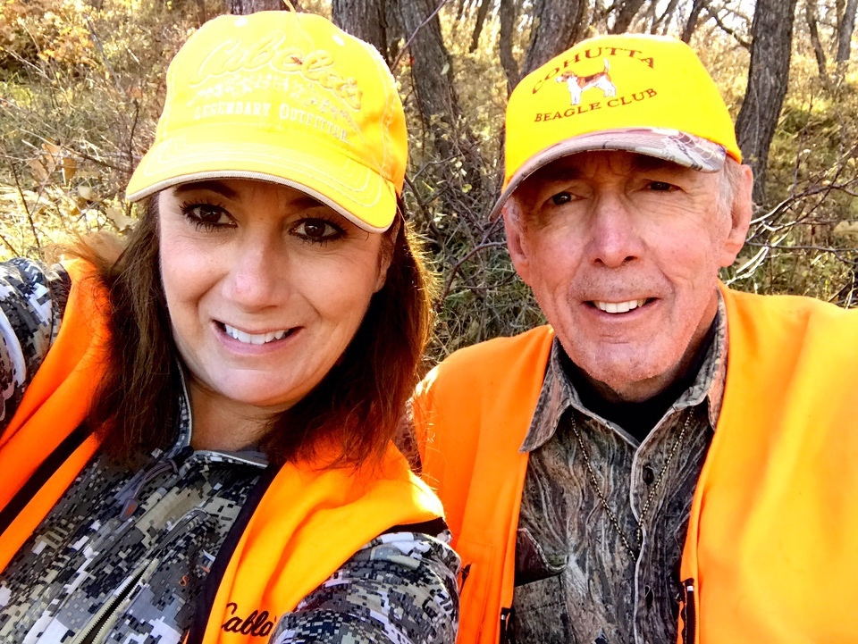 Amy Ray and dad hunting