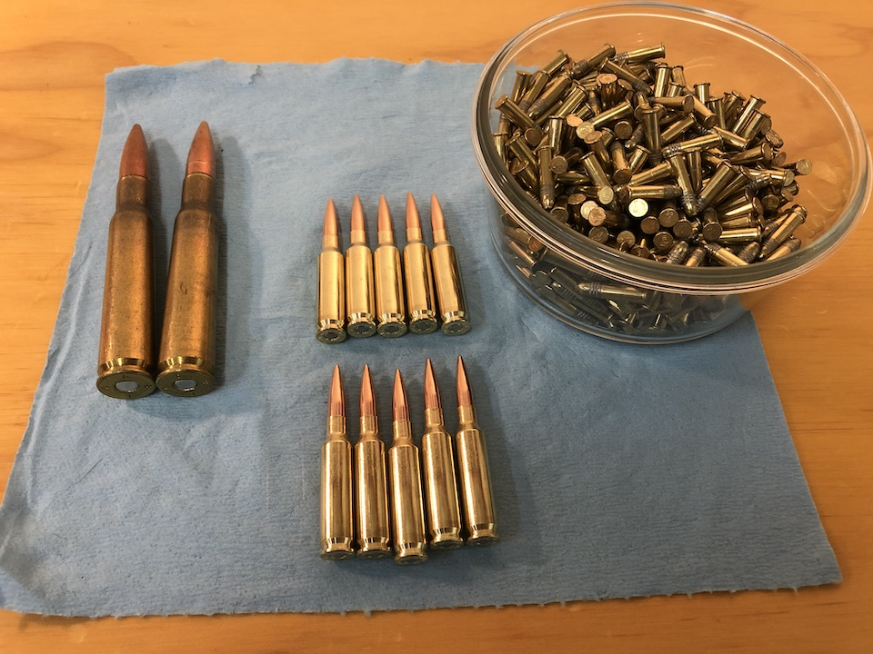 Cost comparison visual. Approximately 20 to 40 worth of ammunition
